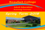 Adult Education Evening Courses Spring 2018