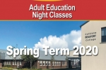 Adult Education Night Classes Spring 2020