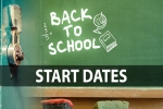 Back to school - Start dates